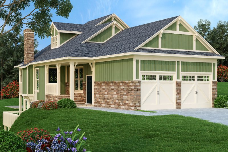 Home Plan - Craftsman Exterior - Front Elevation Plan #45-591