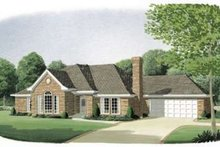 Architectural House Design - Traditional Exterior - Front Elevation Plan #410-144
