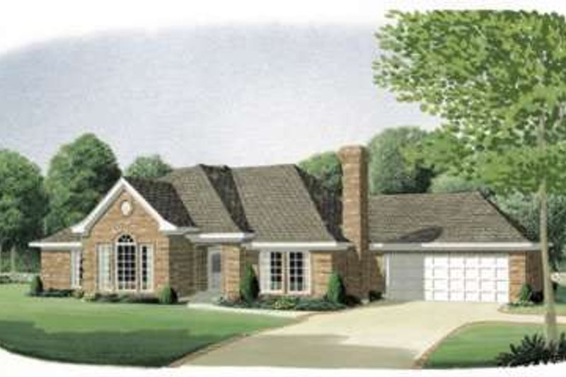 Traditional Exterior - Front Elevation Plan #410-144 - Houseplans.com