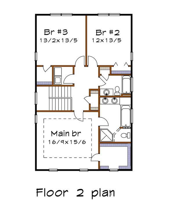 Country Floor Plan - Upper Floor Plan Plan #79-263