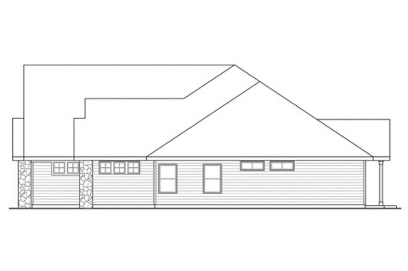 Traditional Exterior - Other Elevation Plan #124-843 - Houseplans.com