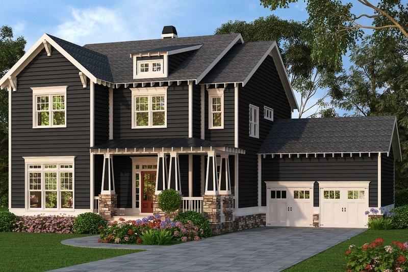 Craftsman Exterior - Front Elevation Plan #419-281
