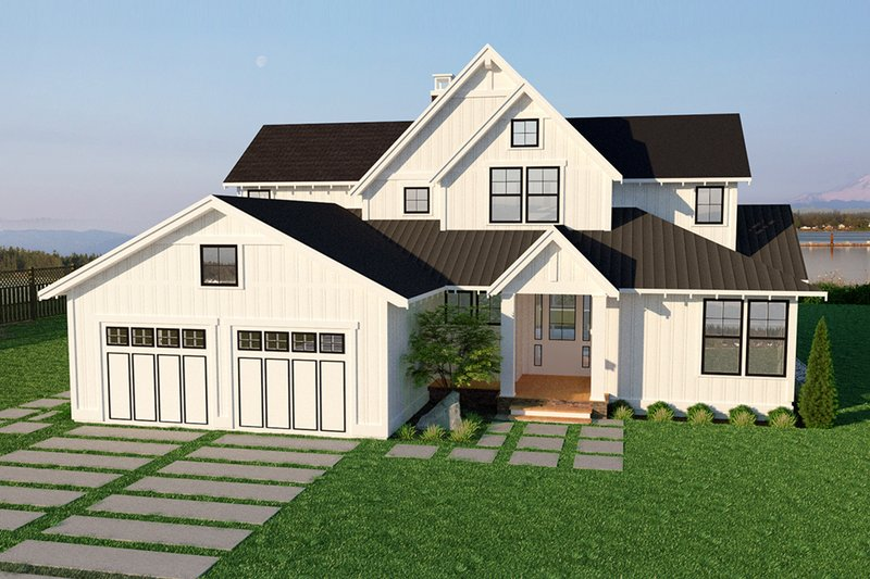 Farmhouse Style House Plan - 4 Beds 3 Baths 3403 Sq/Ft Plan #1070-3 Exterior - Front Elevation
