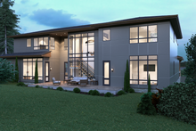 Contemporary Exterior - Rear Elevation Plan #1066-39
