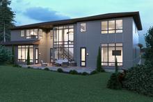 Dream House Plan - Contemporary Exterior - Rear Elevation Plan #1066-39