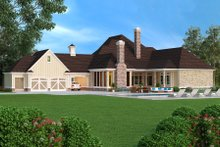 Dream House Plan - European Exterior - Rear Elevation Plan #45-379