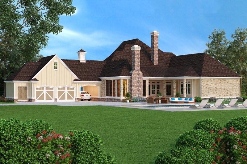 European Exterior - Rear Elevation Plan #45-379 - Houseplans.com