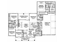 European Floor Plan - Main Floor Plan Plan #21-202