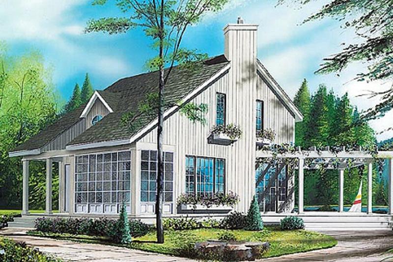 Contemporary Exterior - Front Elevation Plan #23-2035 - Houseplans.com
