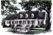 Southern Style House Plan - 3 Beds 3 Baths 2215 Sq/Ft Plan #137-176 Exterior - Front Elevation