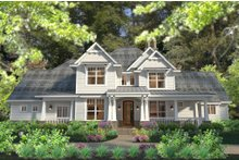 Dream House Plan - Craftsman Exterior - Front Elevation Plan #120-183