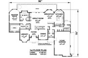 European Style House Plan - 4 Beds 4.5 Baths 6982 Sq/Ft Plan #20-2388 Floor Plan - Main Floor Plan