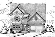 Traditional Style House Plan - 3 Beds 3 Baths 2196 Sq/Ft Plan #20-2275 Exterior - Front Elevation