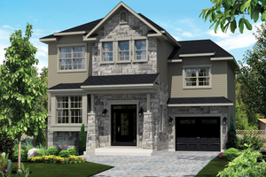 Country Exterior - Front Elevation Plan #25-4299