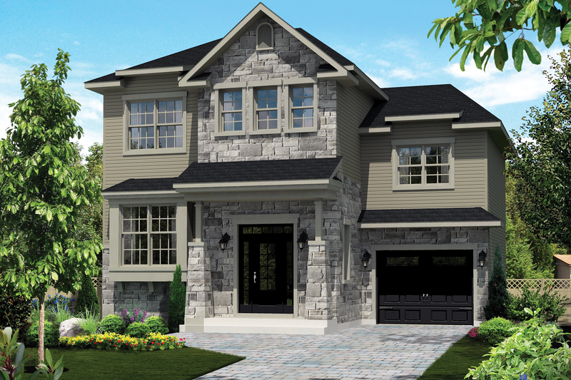 Home Plan - Country Exterior - Front Elevation Plan #25-4299