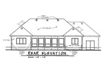 House Plan Design - Craftsman Exterior - Rear Elevation Plan #20-2066