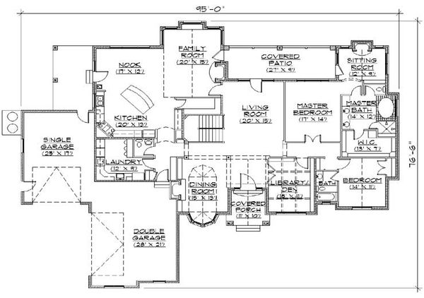 House Plan Design - European Floor Plan - Main Floor Plan #5-341