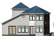 Contemporary Style House Plan - 3 Beds 2.5 Baths 2310 Sq/Ft Plan #524-7 Exterior - Rear Elevation