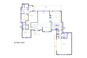 European Style House Plan - 4 Beds 4.5 Baths 3420 Sq/Ft Plan #408-105 Floor Plan - Main Floor Plan