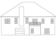 Country Exterior - Rear Elevation Plan #437-13