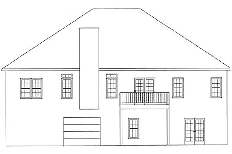 Country Exterior - Rear Elevation Plan #437-13 - Houseplans.com