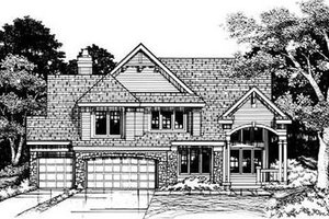 Traditional Exterior - Front Elevation Plan #50-171