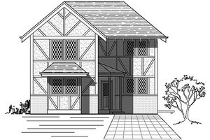 European Exterior - Front Elevation Plan #423-42