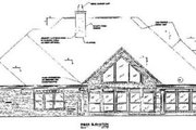 Traditional Style House Plan - 4 Beds 3.5 Baths 3170 Sq/Ft Plan #37-220 Exterior - Rear Elevation