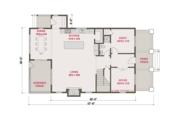 Craftsman Style House Plan - 4 Beds 3 Baths 2546 Sq/Ft Plan #461-62 Floor Plan - Main Floor Plan