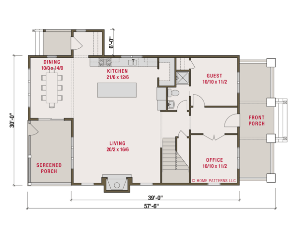 Craftsman Floor Plan - Main Floor Plan #461-62
