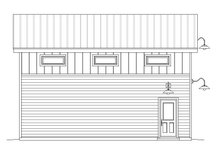 Contemporary Exterior - Rear Elevation Plan #932-32