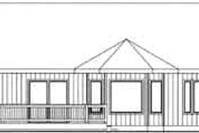 Traditional Exterior - Rear Elevation Plan #117-364 - Houseplans.com