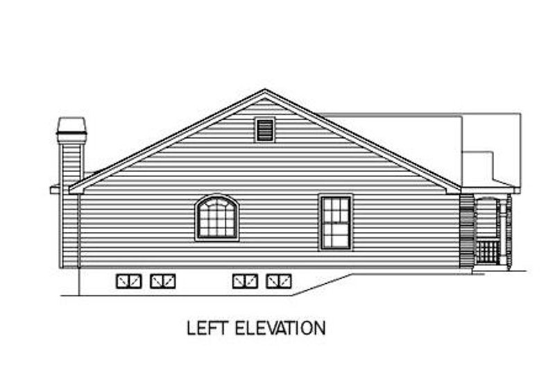 Traditional Exterior - Other Elevation Plan #57-180 - Houseplans.com