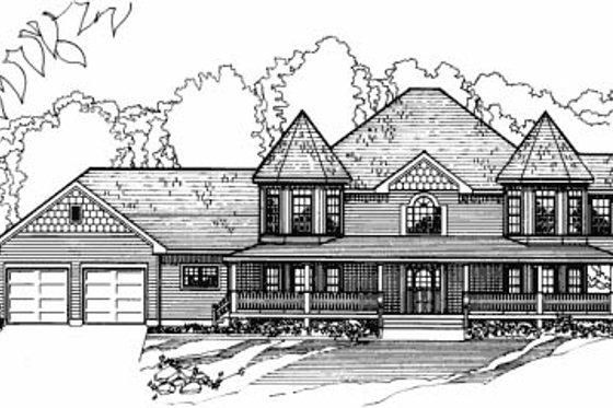 Victorian Exterior - Front Elevation Plan #31-103