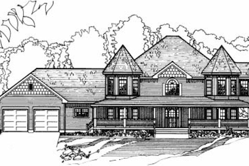 Architectural House Design - Victorian Exterior - Front Elevation Plan #31-103