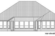 Traditional Style House Plan - 4 Beds 3 Baths 2689 Sq/Ft Plan #84-527 Exterior - Rear Elevation