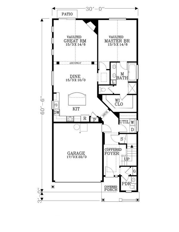 Craftsman Floor Plan - Main Floor Plan #53-479