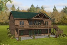 House Plan Design - Cabin Exterior - Rear Elevation Plan #932-264