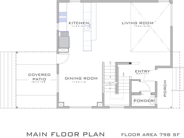Modern Floor Plan - Main Floor Plan Plan #909-2