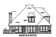 European Style House Plan - 3 Beds 2.5 Baths 2138 Sq/Ft Plan #310-675 Exterior - Rear Elevation
