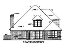 Dream House Plan - European Exterior - Rear Elevation Plan #310-675