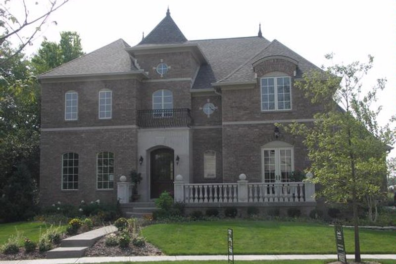 European Style House Plan - 4 Beds 5.5 Baths 5996 Sq/Ft Plan #458-17 Exterior - Front Elevation