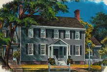 Colonial Exterior - Front Elevation Plan #137-172