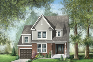 Traditional Exterior - Front Elevation Plan #25-4495