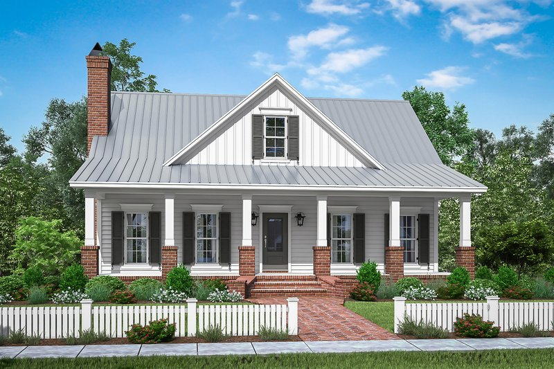 Farmhouse Exterior - Front Elevation Plan #430-198