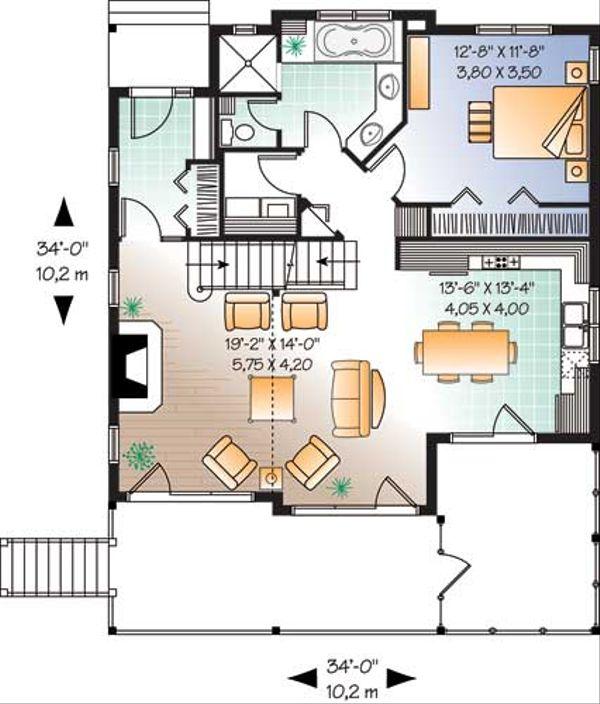 Traditional Floor Plan - Main Floor Plan Plan #23-2174
