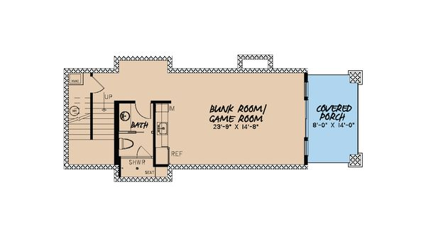 Craftsman Floor Plan - Lower Floor Plan Plan #923-23