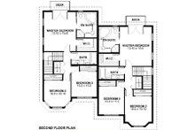 Victorian Floor Plan - Upper Floor Plan Plan #126-168