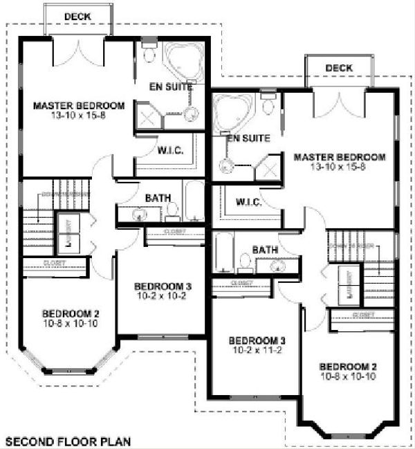 Victorian Floor Plan - Upper Floor Plan Plan #126-168