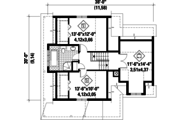 Country Style House Plan - 2 Beds 1 Baths 1637 Sq/Ft Plan #25-4584 Floor Plan - Upper Floor Plan
